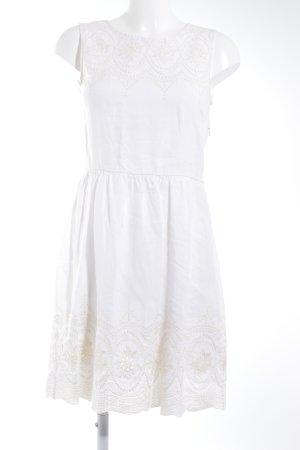 Massimo Dutti Kurzarmkleid wollweiß-creme Romantik-Look