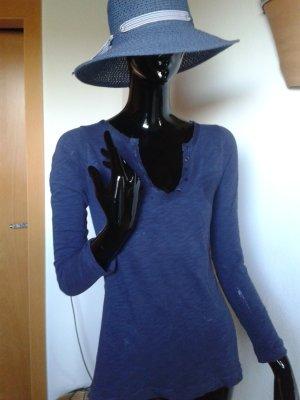 Massimo  Dutti langärmelige Shirt, Gr. S,  blau