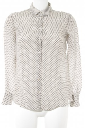 Massimo Dutti Langarm-Bluse abstraktes Muster Casual-Look