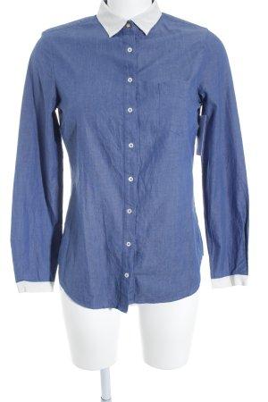Massimo Dutti Langarm-Bluse blau Casual-Look
