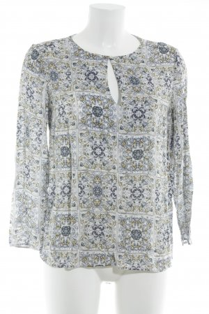 Massimo Dutti Langarm-Bluse florales Muster Casual-Look