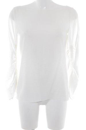 Massimo Dutti Langarm-Bluse hellbeige Streifenmuster Casual-Look