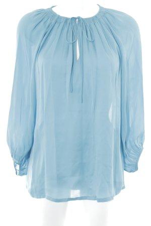 Massimo Dutti Langarm-Bluse himmelblau Elegant