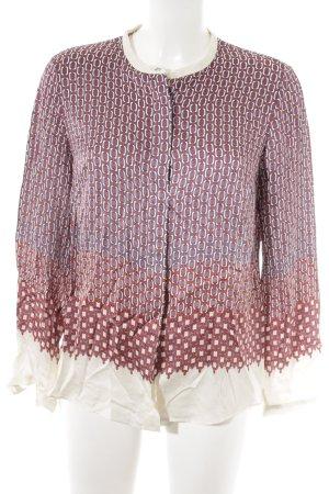 Massimo Dutti Langarm-Bluse Mustermix Street-Fashion-Look