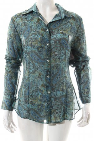 Massimo Dutti Langarm-Bluse Paisleymuster Casual-Look