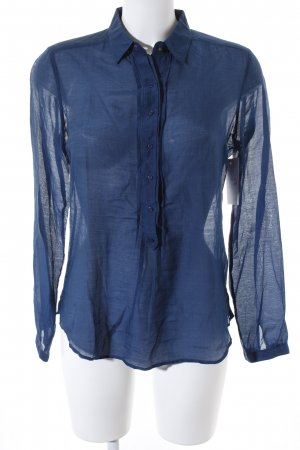 Massimo Dutti Langarm-Bluse petrol schlichter Stil