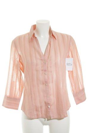 Massimo Dutti Langarm-Bluse rosé Streifenmuster klassischer Stil