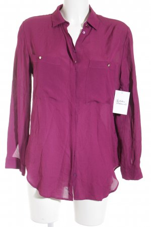 Massimo Dutti Long Sleeve Blouse violet business style