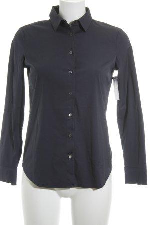 Massimo Dutti Langarmhemd dunkelblau Casual-Look