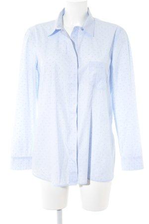 Massimo Dutti Langarmhemd hellblau-dunkelblau Punktemuster Business-Look
