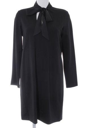 Massimo Dutti Langarmkleid schwarz minimalistischer Stil