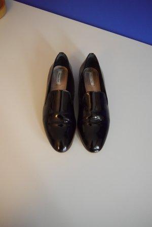 Massimo Dutti Loafer Slipper Lackleder schwarz Gr. 39