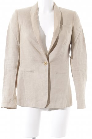 Massimo Dutti Long-Blazer beige Business-Look