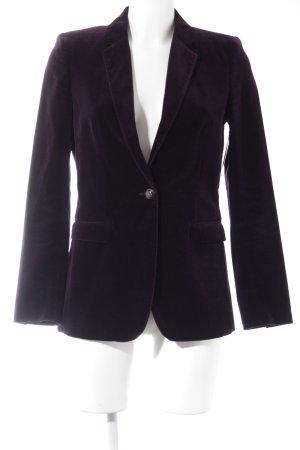 Massimo Dutti Blazer lungo viola scuro elegante
