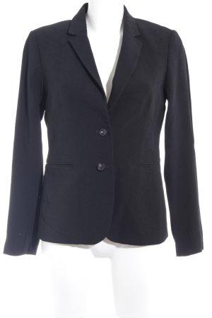 Massimo Dutti Long-Blazer schwarz klassischer Stil