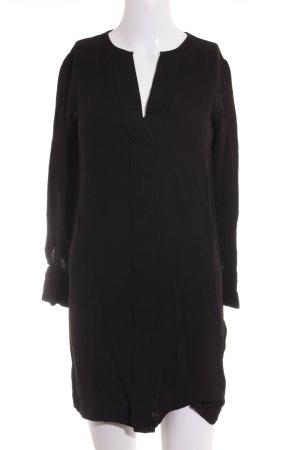 Massimo Dutti Long-Bluse schwarz Elegant