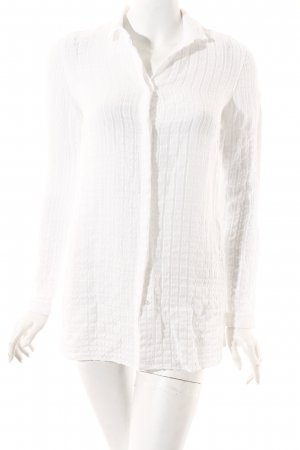 Massimo Dutti Long-Bluse weiß Casual-Look