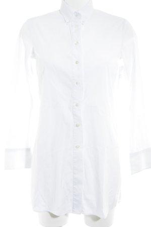 Massimo Dutti Long-Bluse weiß Elegant