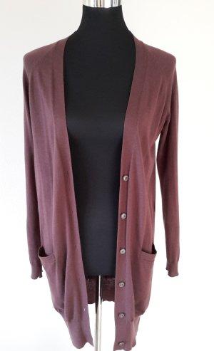 Massimo Dutti Long Cardigan Wool-Silk-Cashmere Gr. S