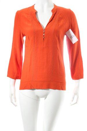 Massimo Dutti Longsleeve orange klassischer Stil