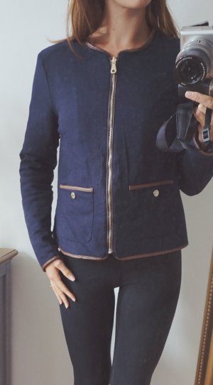 Massimo Dutti Luxus Jacke Übergang Herbst navy dunkelblau Wendejacke Daunen M