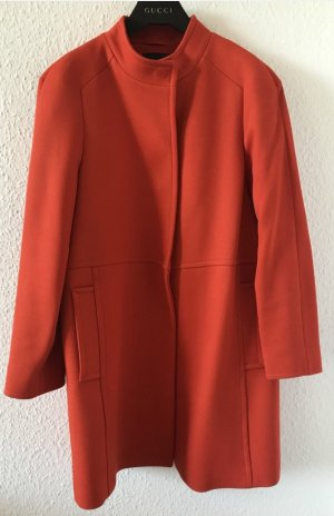 Massimo Dutti Oversized Coat orange
