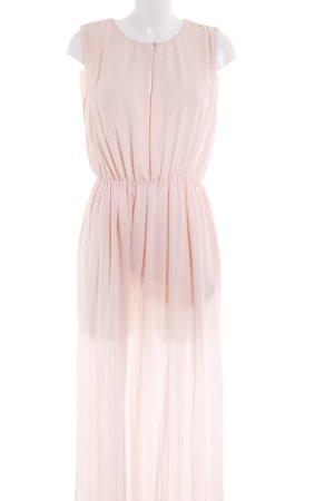 Massimo Dutti Maxikleid apricot schlichter Stil