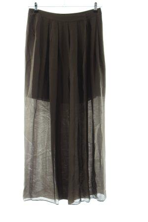 Massimo Dutti Maxi Skirt brown casual look