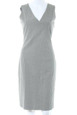 Massimo Dutti Minikleid schwarz-weiß Karomuster Elegant
