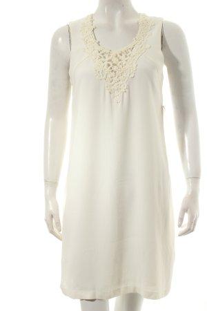Massimo Dutti Minikleid wollweiß Romantik-Look