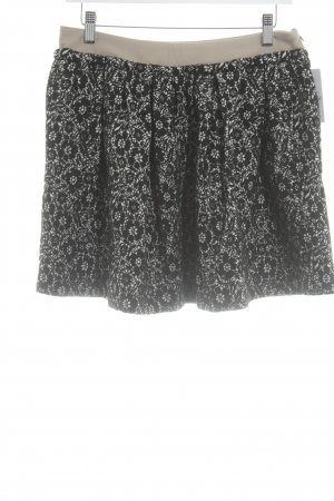 Massimo Dutti Minirock florales Muster klassischer Stil