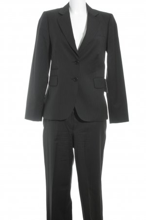Massimo Dutti Nadelstreifenanzug schwarz-dunkelgelb Nadelstreifen Business-Look