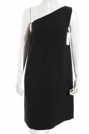 Massimo Dutti One-Shoulder-Kleid schwarz Elegant