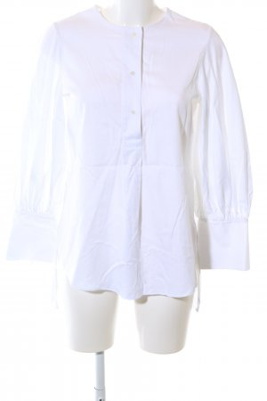 Massimo Dutti Oversized Bluse weiß Business-Look