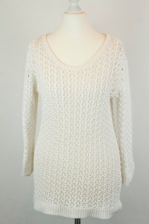 Massimo Dutti Pullover Strickpullover Gr. M weiß lang