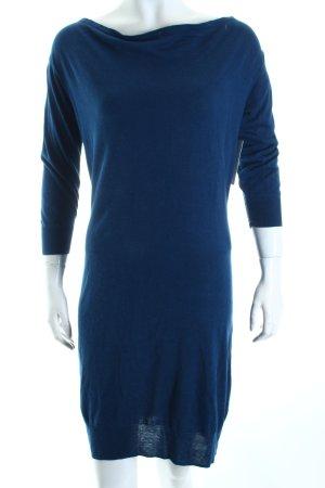 Massimo Dutti Pulloverkleid dunkelblau meliert Casual-Look
