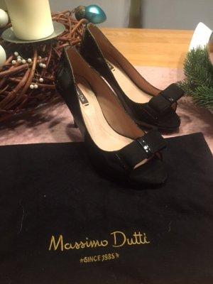Massimo Dutti Pumps Schleife schwarz Gr. 36