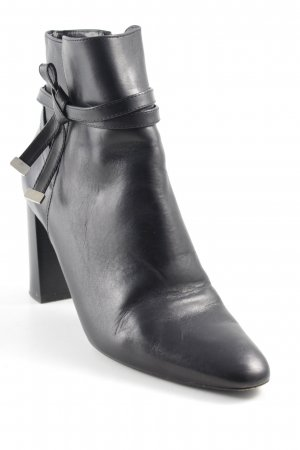 Massimo Dutti Reißverschluss-Stiefeletten schwarz Business-Look