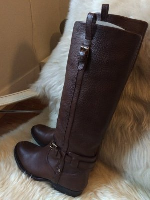 Massimo Dutti Riding Boots black brown-dark brown leather
