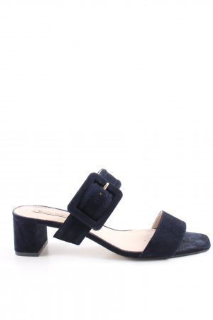 Massimo Dutti Strapped High-Heeled Sandals blue casual look