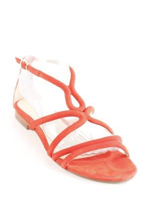 Massimo Dutti Riemchen-Sandaletten rot-nude Elegant
