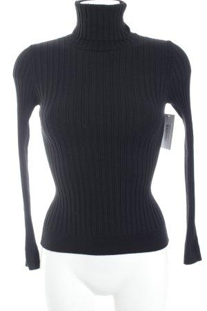 Massimo Dutti Rollkragenpullover schwarz schlichter Stil