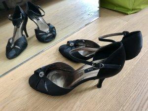 Massimo Dutti Sandalen schwarz mit Swarovski-Steinen