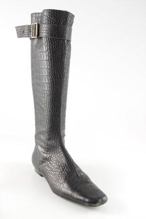 Massimo Dutti Kaplaarzen donkerbruin reptielen print