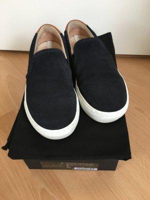 Massimo Dutti Schlüpf Sneaker dunkelblau Wildleder Gr 35