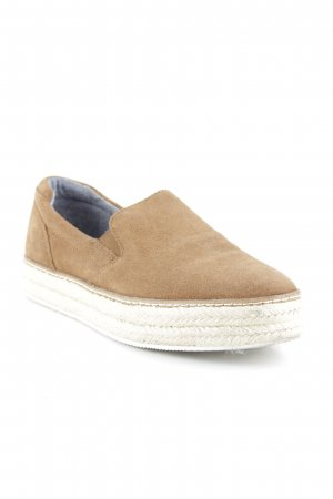 Massimo Dutti Slip-on Shoes light brown simple style