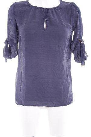Massimo Dutti Schlupf-Bluse blau schlichter Stil