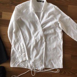 MASSIMO DUTTI°Schöne weiße Bluse°Wickel-Bluse zum Binden°36°wie NEU