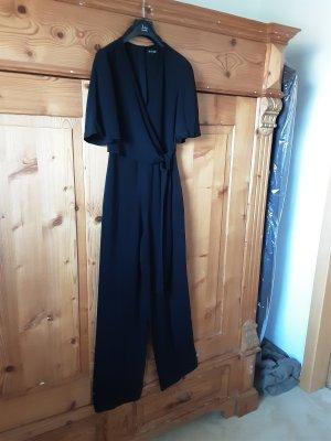Massimo Dutti Tailleur-pantalon noir viscose