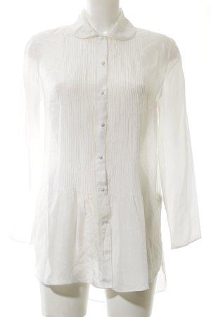 Massimo Dutti Seidenbluse wollweiß-weiß Elegant